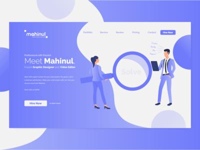 Landing Page Design | Website UI Design | UI Design
