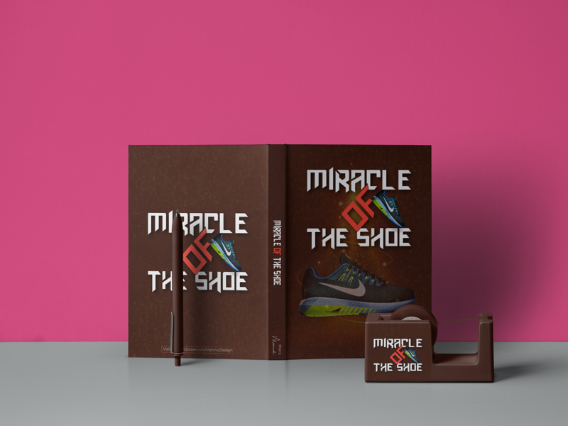 Book Cover Design - Miracle of The Shoe packaging design packaging book design book cover mockup book cover design book cover book graphicdesign graphic design illustration graphic design