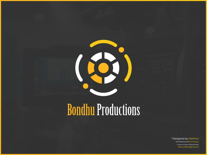 Bondhu Productions - Video Production Company Logo Design logos video production production company production design productions branding design brand design logodesign illustration brand identity logo design branding graphic design design production tvc ads logo vector
