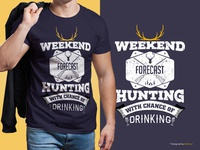 Hunting T-Shirt Design | Hunter Special Weekend Forecast