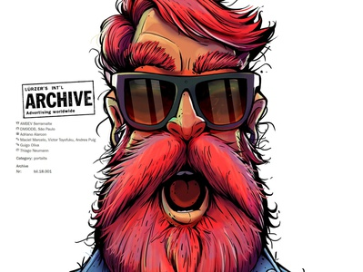 Character for the Serramalte Advertising illustraion beard beer archive advertising