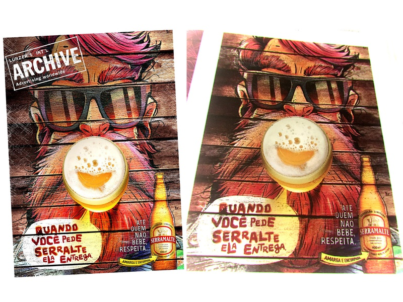 Character for the Serramalte Advertising beard beer advertising illustration