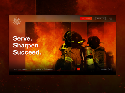 Alabama Fire College Website Redesign red home page home screen homepage ux design uxui ui ux college xd figma fire website design web design webdesign website
