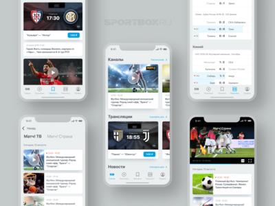 Sport app UI