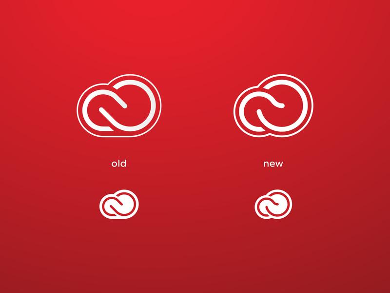 Creative cloud logo concept concept redesign logo adobe