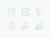 Loan application icons