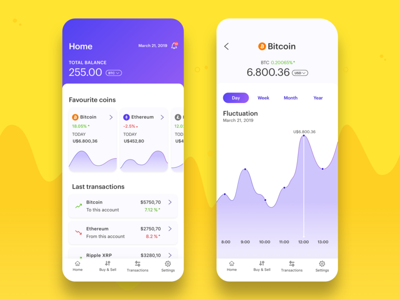 Crypto currency App money transfer management iphone x ios interface design dashboard app bitcoin chart ux ui wallet app mobile app data crypto currency