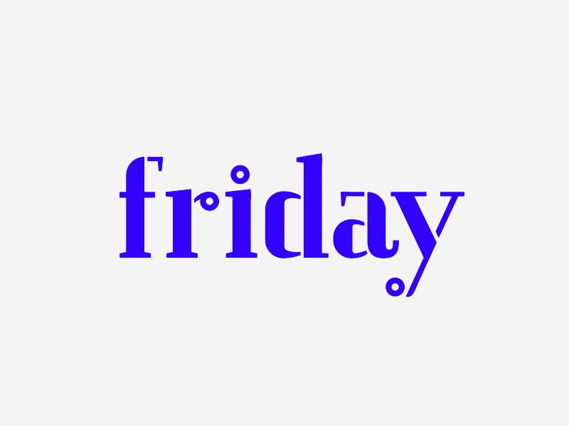 Friday brand typography logo friday