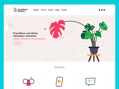 Lanneberg Bexelius Homepage interface sweden brand ui web