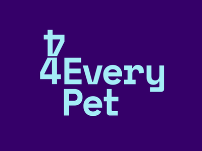 4everypet Logo sitting dog petsitting blue purple brand logo