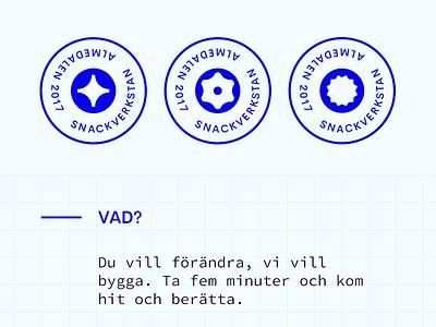 Snackverkstan Brand wereonaboat snackverkstan blue brand logo
