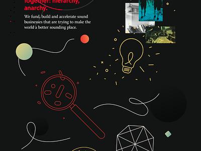 Echo1 Case Study case study moodboard dark illustration brand
