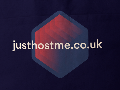 JustHostMe Rebranding hosting justhostme uk british hexagon branding print logo