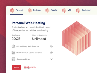 JustHostMe Plans webhost hosting justhostme uk british hexagon branding logo pricing plans web
