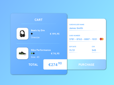 Daily UI #002 Credit Card Checkout 2nd Version