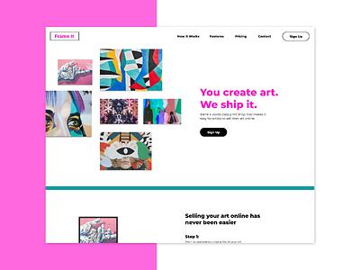 Frame It- Website Mockup, Branding website layout screengrab branding ui ux design