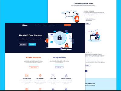 Fluree- Website Design & Re-Branding typography branding ui website layout ux design