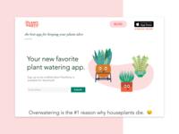 Plant Party App - Web Design and Branding layout website app plants branding screengrab ui ux design