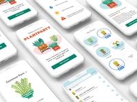 Plant Party App- App Mockup illustration ui mobile ui mobile design