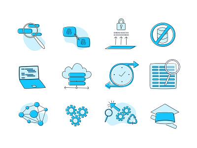 Custom Vector Icon Pack for Fluree branding vector illustration design