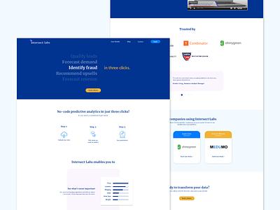 Intersect Labs Website Design layout website ui branding design