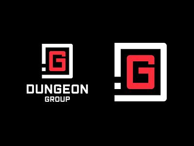 Dungeon.Group Rebranding logo vector layout website ux branding design
