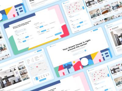 Real Estate UI App Design real estate filters ui vector website layout ux branding design