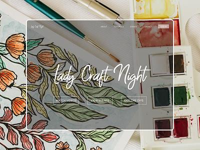Website Mockup - Lady Craft Night typography screengrab website layout ui branding design