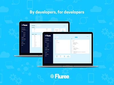Fluree Dashboard UI branding technology software dashboard screengrab layout design