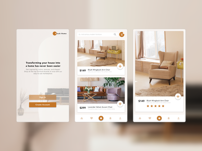 Interior Design/Furniture Retail App ecommerce products app mobile ux layout ui branding design