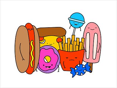 Snack Time food illustration food design illustration vector illustration vector