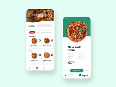 New York Pizza - Mobile App Concept delivery food app food new york pizza app mobile ux design app pizza mobile app mobile web website webdesign ui ux ui design ux ui
