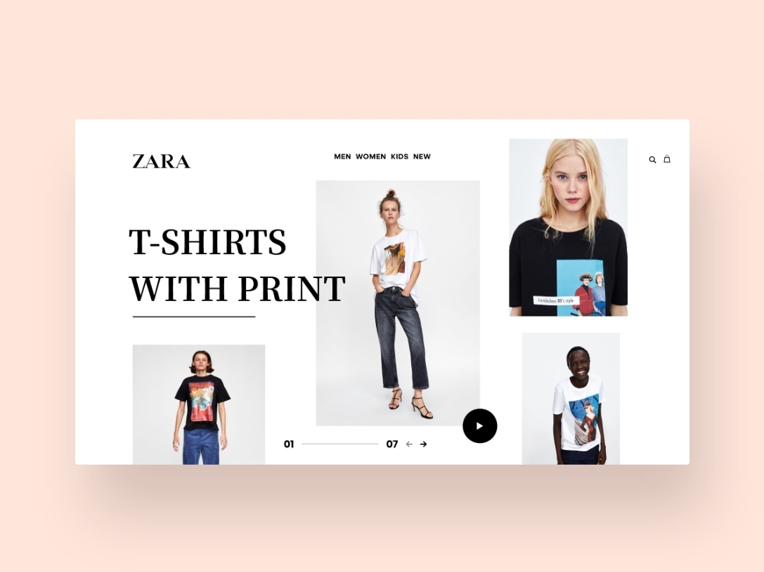 Websites To Design Clothes | Zara Website Design By Vidar Smits Dribbble Dribbble