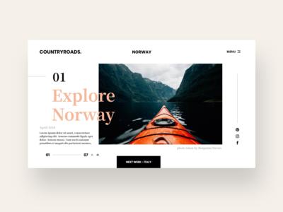 Travel page design