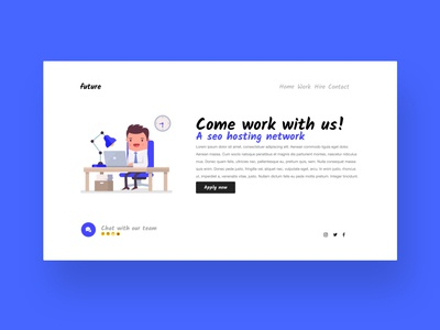 SEO Hosting Network - Design - Vacancy page