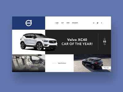 Volvo XC40 frontpage concept