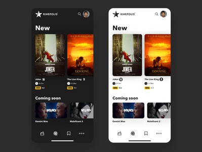 Kinepolis App | Dark and Light Mode