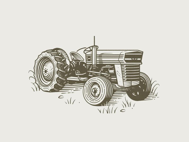 Sokol Blosser Tractor Illustration