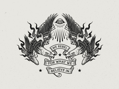 We Rebel For What We Believe In black and white eagles symmetry graphic vector graphic ink eagle drawing eagle illustration eagle stippling line drawing tattoo graphic design linework drawing illustration illustrator
