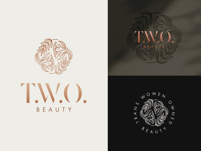 T.W.O. Beauty cosmetic branding cosmetic logo design type identity design brand identity makeup brand beauty product beauty logo typography logomark logotype logodesign linework logo illustrator graphic design illustration branding