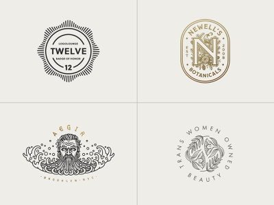 LogoLounge 12 X Jared Tuttle logolounge logo design logo designer illustration logo badge logomark brand identity brand design branding design logos logo branding