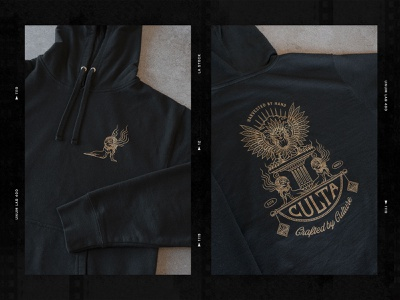 CULTA - Harvested by Hand, Crafted by Culture lettering typography type monoline illustration monoline cannabis cannabis design hoodie apparel design logodesign logo drawing illustrator linework illustrations graphic design design illustration