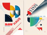 "Tribute to Bauhaus ""Xanti Schawinsky"" & ""Bauhaus Dessau"" posters"