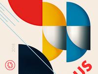 """Tribute to Bauhaus """"Bauhaus Dessau"""" fragment 2"""