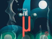 """Tribute to Bauhaus """"Typeface at Sea"""" fragment"""
