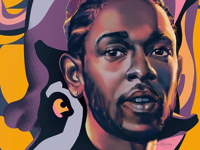 All The Stars oscars poster people portraiture wflemming illustration portrait music black panther kendrick lamar