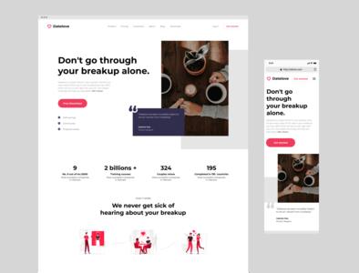 WEB | Datelove love date ux ui responsive website concept design