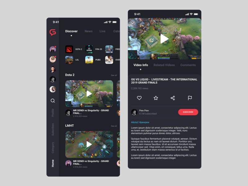 APP | Mygame app video ux ui branding concept design
