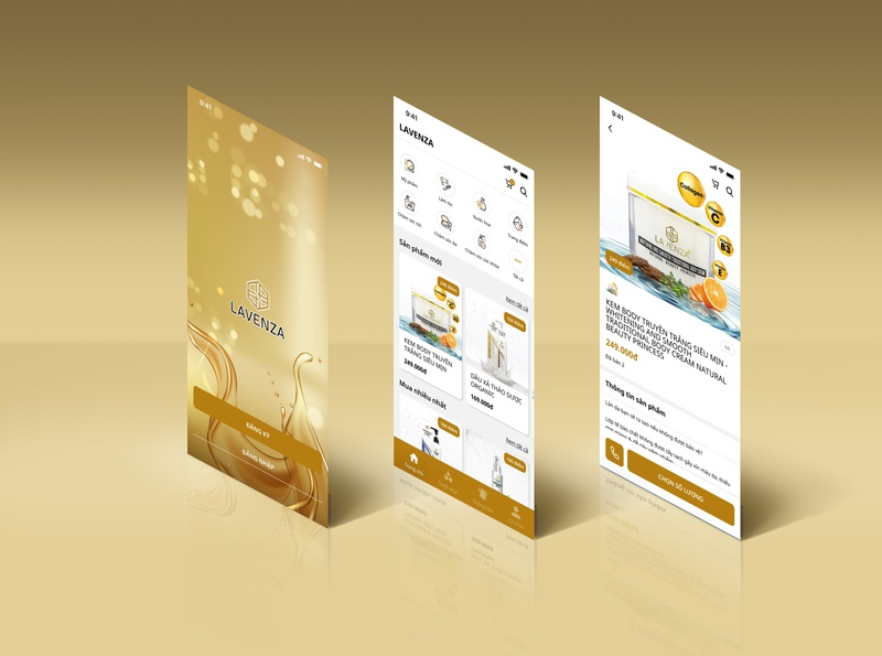 APP | Lavenza ecommerce shop ecommerce app ux ui design