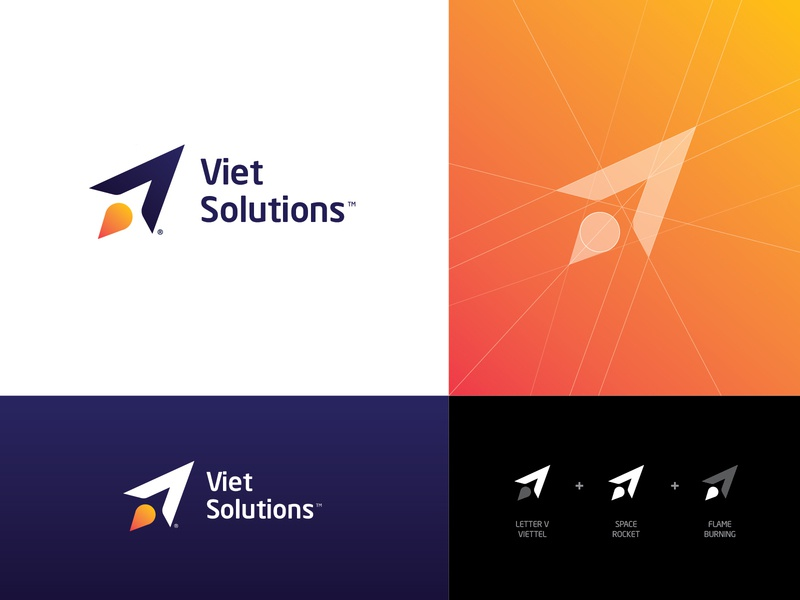 Logo | Viet Solution vietnam startup logo concept design